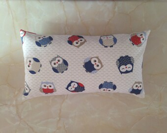 Owl fabric cushion, owl pillow,