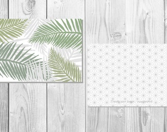 Tropical postcard - Palm - green and gray - Palm Branch