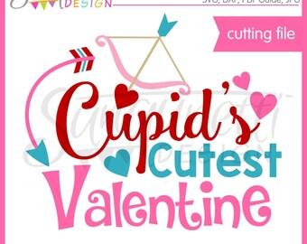Valentine Word Art, Valentine SVG, Cupid SVG, DXF, Valentine Clipart, Love Clipart, svg Files for Cutting Machines