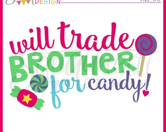 Brother clipart, candy clipart, lollipop clipart, sweets clipart, instant download