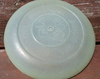 Retro Burger Chef Glow in the Dark Frisbee c. 1972