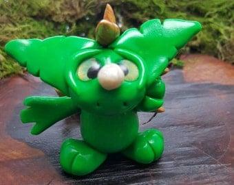 """OOAK polymer clay """"gremlin"""" dragon"""