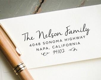 Self Inking Address Stamp, Custom Return Address, Wedding Invitation Addressing, Personalized Rubber Stamp, Custom Stationary Stamp