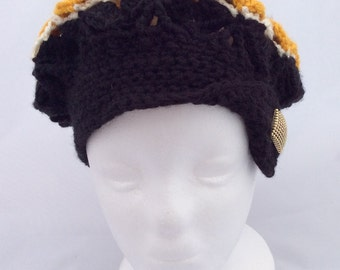 Girls flapper hat.  Age 8 to 12.