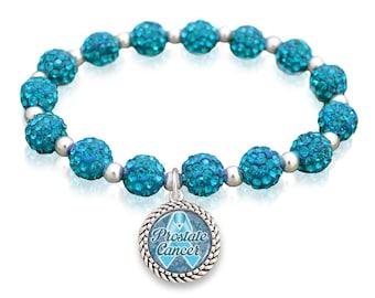Prostate Cancer Awareness Sparkle Stretch Bracelet - AWPRC57516