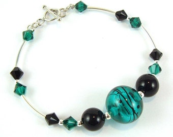 Green Blown Glass Bracelet