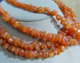 Reserved Anastisia1 Strand Spessartite Garnet rough beads  12'' 45, grams 7X9. 8X12. MM