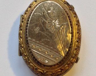 Vintage Etruscan Revival Gold Filled Locket