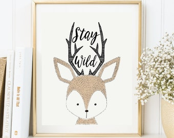 Woodland Wall Decor deer nursery decor | etsy