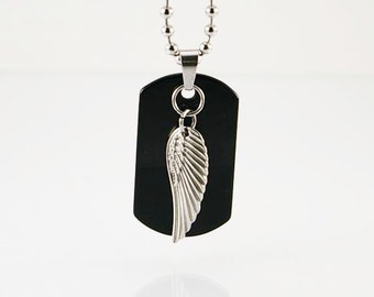 Wing pendant on chain, mens necklace, mens pendant, men necklace pendant, men necklace chain, men chain, mens gift