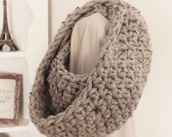 Grey Marble Infinity Scarf