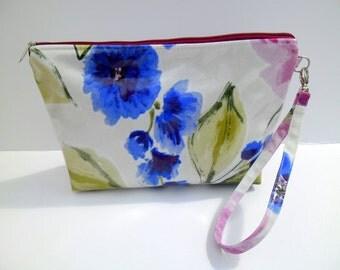 Oil Cloth Fabric-Clutch bag-handmade handbags-clutch purse-Fabric handbags-Patchwork bag-Gift for women- annivarsary gift for her-Makeup Bag