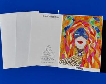 TAURUS - Zodiac Greeting Card - 5X7