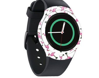 Skin Decal Wrap for Samsung Gear S2, S2 3G, Live, Neo S Smart Watch, Galaxy Gear Fit cover sticker Cool Flamingo