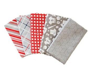 Riley Blake Designs-Fat Quarter Bundle-Baseball Fabric-Play Ball 2-Quilting Fabric-Sewing Fabric-Fat Quarter-Sports Fabric-Quilt Fabric