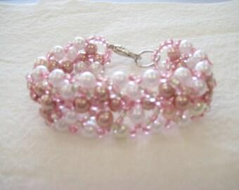 Handmade Faux Pearl Bracelet