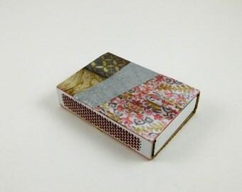 Paper Art Matchbox // Decorative Mini-art Matchbox // Collage Matchbox //Hostess Gift