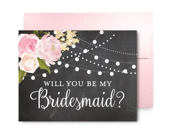 Will You Be My Bridesmaid Card, Bridesmaid Cards, Ask Bridesmaid, Bridesmaid Maid of Honor Gift, Matron of Honor, Flower Girl #CL104
