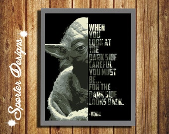 Yoda Poster - Yoda Wisdom Quote - Star Wars Poster - 8x10 - DIGITAL