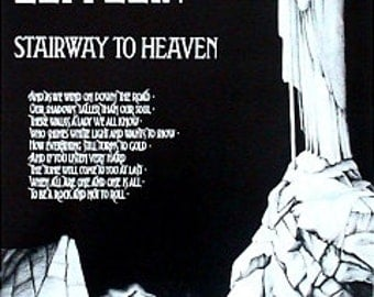 Poster Wall Art Led Zeppelin Stairway To Heaven 22 x 34