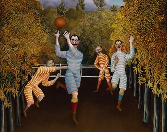 Henri Rousseau: The Football Players. Fine Art Print/Poster (00556)