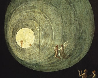 Hieronymus Bosch: The Ascent of the Blessed, detail from the Last Judgement. Fine Art Print/Poster. (003635)
