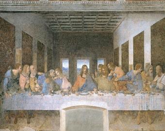 Leonardo Da Vinci: The Last Supper. Fine Art Print/Poster. (003655)