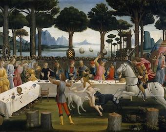 Sandro Botticelli: The Story of Nastagio degli Onesti III. Fine Art Print/Poster. (001885)