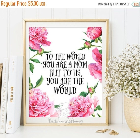mother 39 s day print wall art decor printable by littleemmasflowers. Black Bedroom Furniture Sets. Home Design Ideas