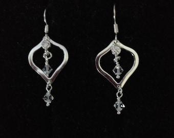 Sterling Swarovski Crystal Earrings