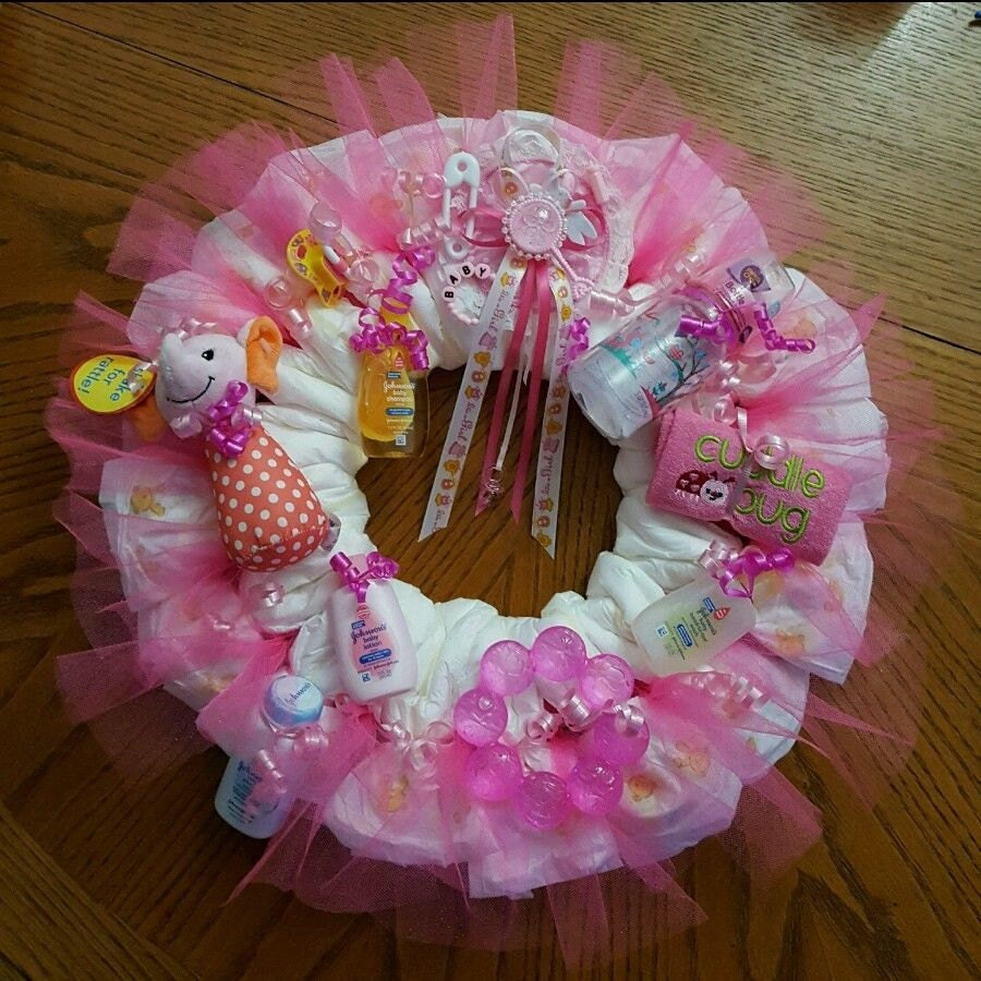 new handmade baby shower diaper wreath for by rjayshandmadecrafts