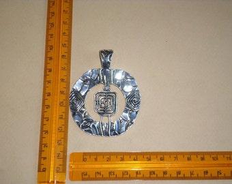 antique silver Celtic spiral Pendant 1