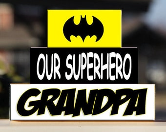 Personalized Superhero Grandparent Blocks – Gift