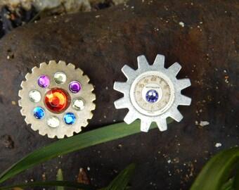 Gear Glitz Button Cover Set - Vintage Watch Parts