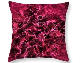 Raspberry Pillow,Raspberry Throw Pillow,Pink Pillow,Dark Pink Accessories,Raspberry Colored Accent,Home Interior,Decorative Throw Pillow