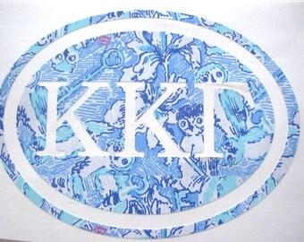 Kappa Kappa Gamma Sticker Decal Sorority - Great Initiation, Bid Day or Big Little Gift!
