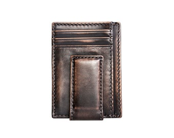 CARRYALL MAGNETIC Front Pocket Wallet Black - Multicard Construction - PERSONALIZED Wallet - Money Clip Wallet - Groomsmen Gifts