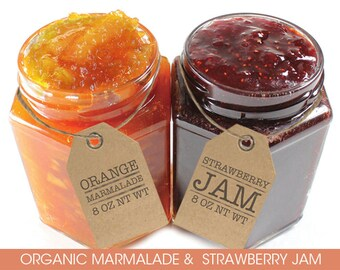 2 Jars Valencia Marmalade & Strawberry Jam