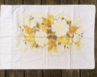 Vintage Floral Pillowcase, Shabby Chic