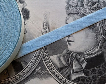 Antique french linen ribbon, 1900s