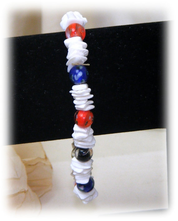 Red, White & Blue STRETCH BRACELET