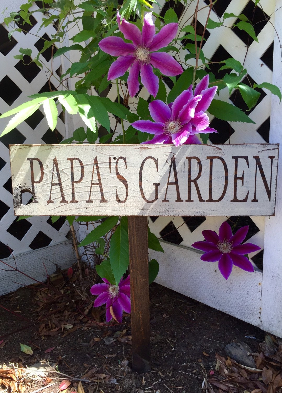 Personalized custom garden wood sign Garden signs Garden Decor