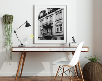 European Travel Photography, Baden Baden Germany, Balcony, Instant Download, Digital File, Printable Art, No.13