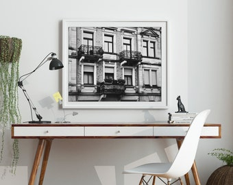 European Travel Photography, Balconies, Instant Download, Digital File, Printable Art, No. 25