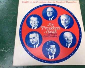 Vintage Record Album - Six Presidents Speak - A Profile Of The Presidency