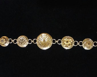 Antique sterling button bracelet