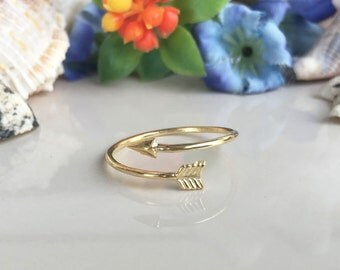 20% off-SALE!! Arrow Ring - Gold Ring - Stacking Ring - Tiny Ring - Everyday Ring - Adjustable Ring - Simple Ring - Slim Ring - Stack Ring
