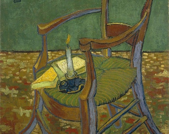 Gauguin's Chair by Vincent Van Gogh, various sizes, Giclee Canvas Print