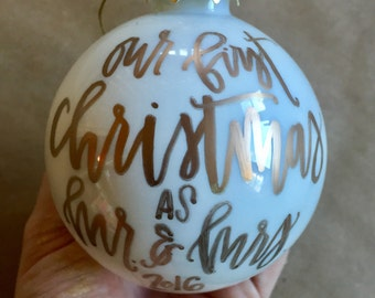 Mr. and Mrs. Ornament - Gift Idea - Just Married