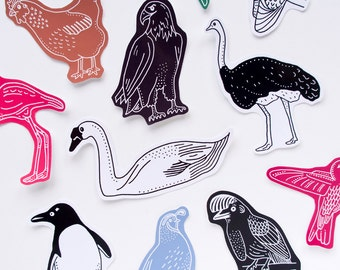 Beautiful Birds Sticker Set. Eleven Cute and Colourful Animal Stickers. Bird Watching. Bird Gift. Stocking Filler.